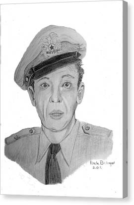The Andy Griffith Show Canvas Print - Barney Fife by Dale Ballenger