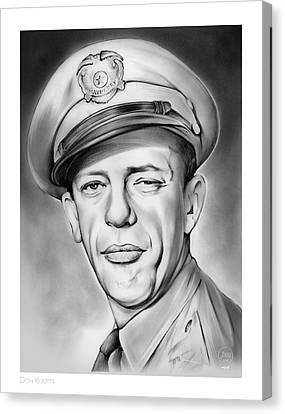 The Andy Griffith Show Canvas Print - Barney by Greg Joens