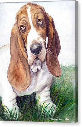 Barney Canvas Print by Mamie Greenfield