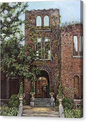Ruins Canvas Print - Barnsley Garden Ruins by Freida Petty