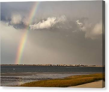 Barnstable Harbor Rainbow Canvas Print by Charles Harden