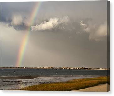 Barnstable Harbor Rainbow Canvas Print by Charles Harden