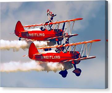 Barnstormers And Wing Walkers Canvas Print by Daniel Hagerman