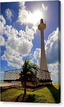 Canvas Print featuring the photograph Baron Bliss Lighthouse - Fort George, Belize - Caribbean by Jason Politte