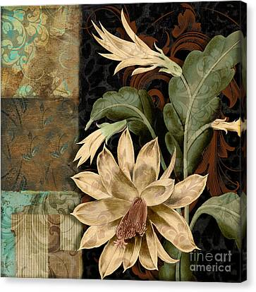 Baroque Cactus Orchid Patchwork Canvas Print by Mindy Sommers
