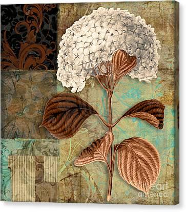 Baroque Hydrangea Patchwork Canvas Print