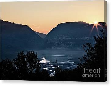 Alberi Canvas Print - Barrea Lake, Abruzzo National Park by Luigi Morbidelli