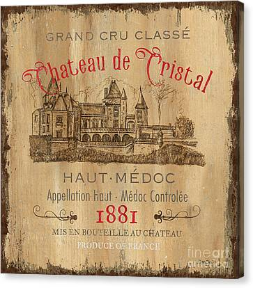Chateau Canvas Print - Barrel Wine Label 1 by Debbie DeWitt