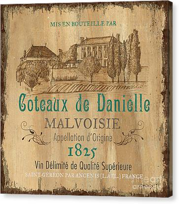 Chateau Canvas Print - Barrel Wine Label 2 by Debbie DeWitt