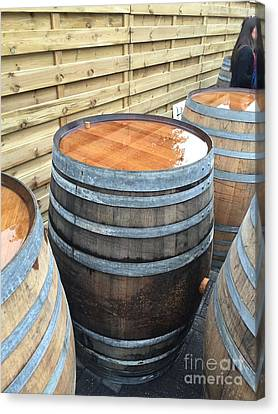 Barrels In Belgium Canvas Print by Evan N