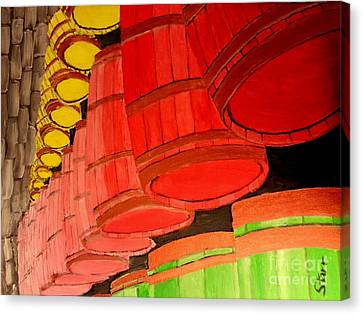 Barrels Canvas Print by Irving Starr