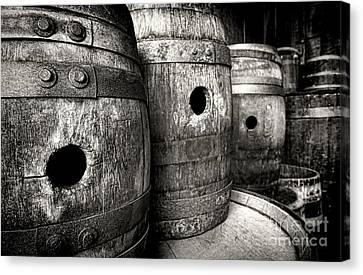 Dry Canvas Print - Barrels Of Laugh Past  by Olivier Le Queinec