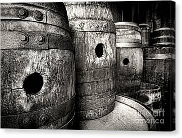 Casks Canvas Print - Barrels Of Laugh Past  by Olivier Le Queinec