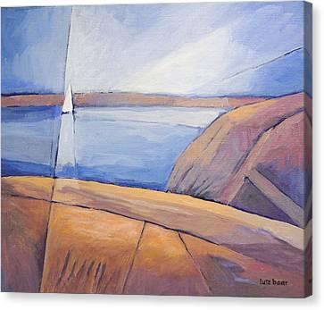 Barren Coast Seascape Canvas Print