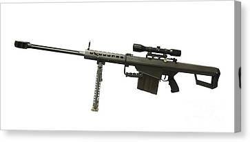 Barrett L82a1 Anti-materiel Rifle Canvas Print by Andrew Chittock
