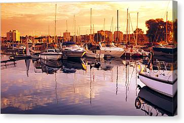 Barrie Marina Sunrise Canvas Print