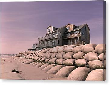 Condemn Canvas Print - Barrier Island Migration  by Betsy Knapp