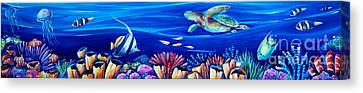 Barrier Reef Canvas Print by Deb Broughton