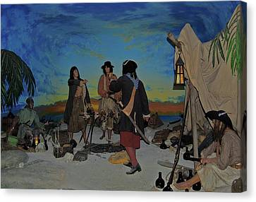 Barring Buccaneers Canvas Print by DigiArt Diaries by Vicky B Fuller