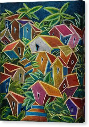 Barrio Lindo Canvas Print by Oscar Ortiz