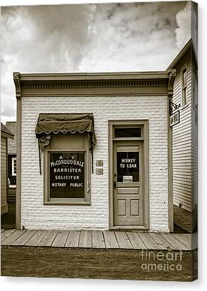 Barrister's Office In The Wild West Canvas Print by Edward Fielding