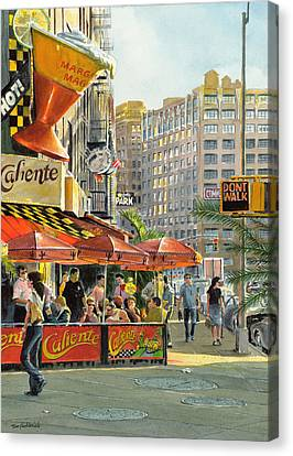 Barrow And Bleecker Canvas Print by Tom Hedderich
