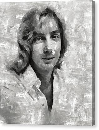 Glamor Canvas Print - Barry Manilow, Musician by Mary Bassett