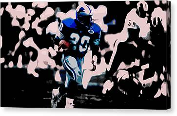 Barry Sanders Canvas Print - Barry Sanders 17a by Brian Reaves