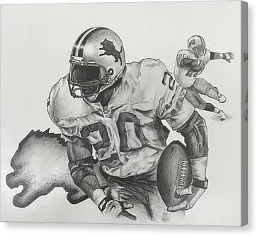 Barry Sanders Canvas Print - Barry Sanders by Justin Ramsey