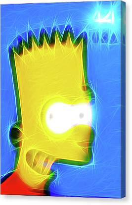 Bart Simpson Canvas Print by Lanjee Chee