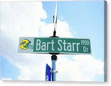 Bart Starr Drive Canvas Print by Scott Pellegrin