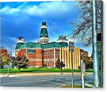 Bartholomew County Courthouse Columbus Indiana  Canvas Print by Scott D Van Osdol