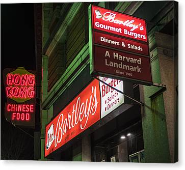 Bartley's Burgers And The Hong Kong In Harvard Square Cambridge Ma Canvas Print