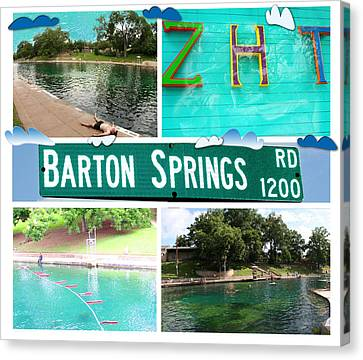 Barton Springs Canvas Print by Andrew Nourse