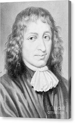Baruch Spinoza, Jewish-dutch Philosopher Canvas Print by Photo Researchers