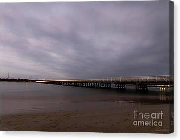 Canvas Print featuring the photograph Barwon Heads Bridge by Linda Lees