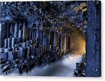 Basalt Pillars Line Fingals Cave Canvas Print by Jim Richardson