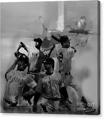 Base Ball Players Canvas Print by Gull G