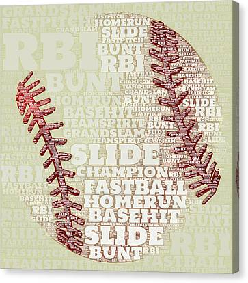 Baseball 2 Canvas Print by Brandi Fitzgerald