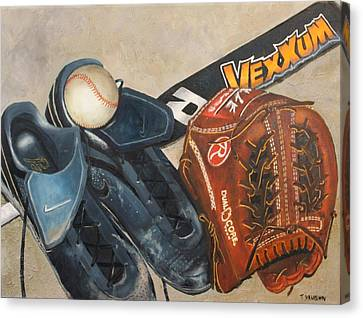 Baseball Allstar Canvas Print by Teri Vaughn