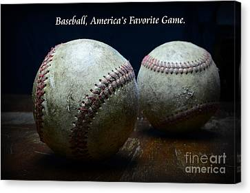 Baseball Americas Favorite Game Canvas Print by Paul Ward