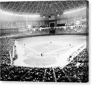 Baseball: Astrodome, 1965 Canvas Print by Granger