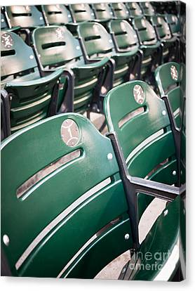 Ballpark Canvas Print - Baseball Ballpark Seats Photo by Paul Velgos