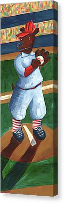 Baseball Bear Canvas Print