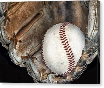 Still Life Canvas Print - Baseball by Camille Lopez