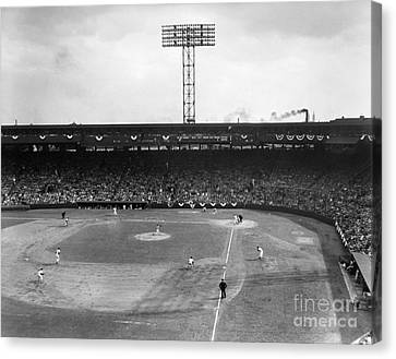 Baseball: Fenway Park, 1956 Canvas Print by Granger