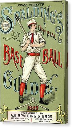 Baseball Guide Canvas Print by Vintage Pix