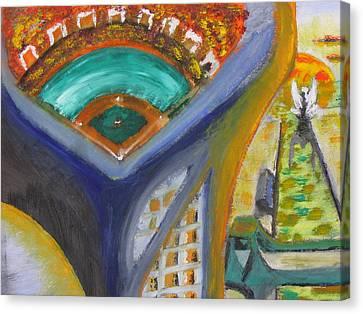 Baseball Heaven Canvas Print by Keith Cichlar