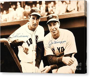Baseball Heroes Canvas Print by Roberto Prusso