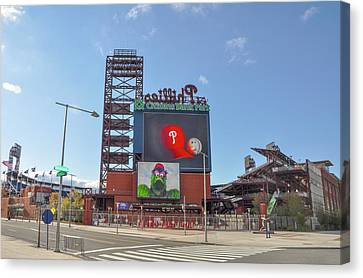 Baseball In Philadelphia - Citizens Bank Park Canvas Print by Bill Cannon